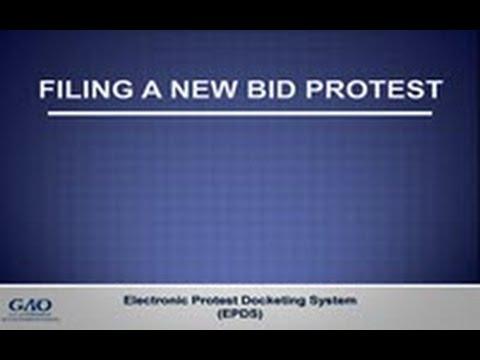 GAO's E-Filing System - Filing a New Bid Protest