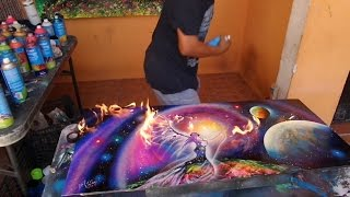 Mother's Day spray paint(Spray paint art by Porfirio Jimenez C.2016 Thanks for watching my friends looking for paintings https://www.porfiriojimenez.me Thank you and fiiirrreee!, 2016-05-10T01:11:12.000Z)