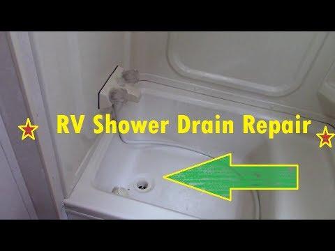 RV/Camper Shower Drain Repair DIY
