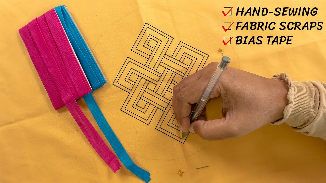 How to Sew a Simple Pattern by Hand | DIY Hand Stitching