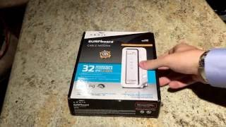 the best cable modem arris surfboard sb6190 1 4 gbps unboxing overview 32 channels down and 8 up