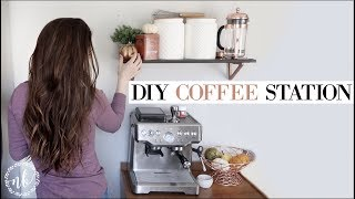 DIY COFFEE STATION on a budget! + Fall Decor | ORGANIZE WITH ME | Natalie Bennett