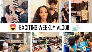 WEEKLY VLOG // CLEANING, ORGANIZING, GROCERY SHOPPING & AN EXCITING DAY! // Jessica Tull