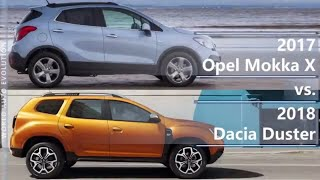 2017 Opel Mokka X vs 2018 Dacia Duster (technical comparison)