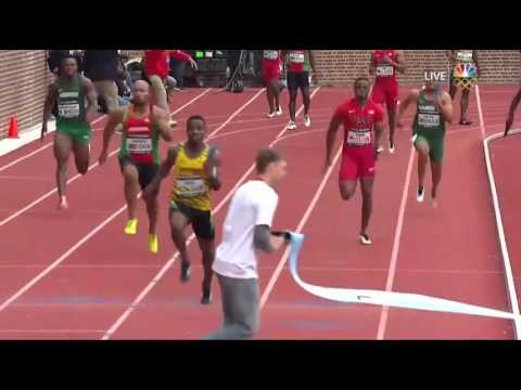 Botched pass analysis, Final Exchange, Team Jamaica WINS USA vs World Men 4x100M 2016