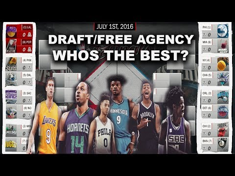 2017 NBA DRAFT/FREE AGENCY TEAMS PUT INTO A PLAYOFFS! WHOS FUTURE IS BRIGHTER!