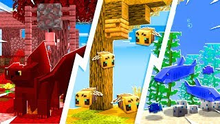 Building in MINECRAFT Using only ONE COLOR! - Minecraft PE Build Battle