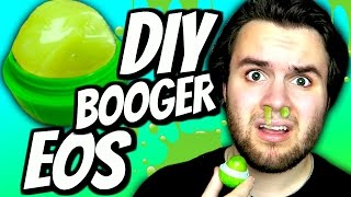 diy booger eos   how to make boogers into eos lip balm tutorial