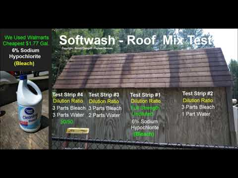 Softwash   Roof Cleaning Mix Test