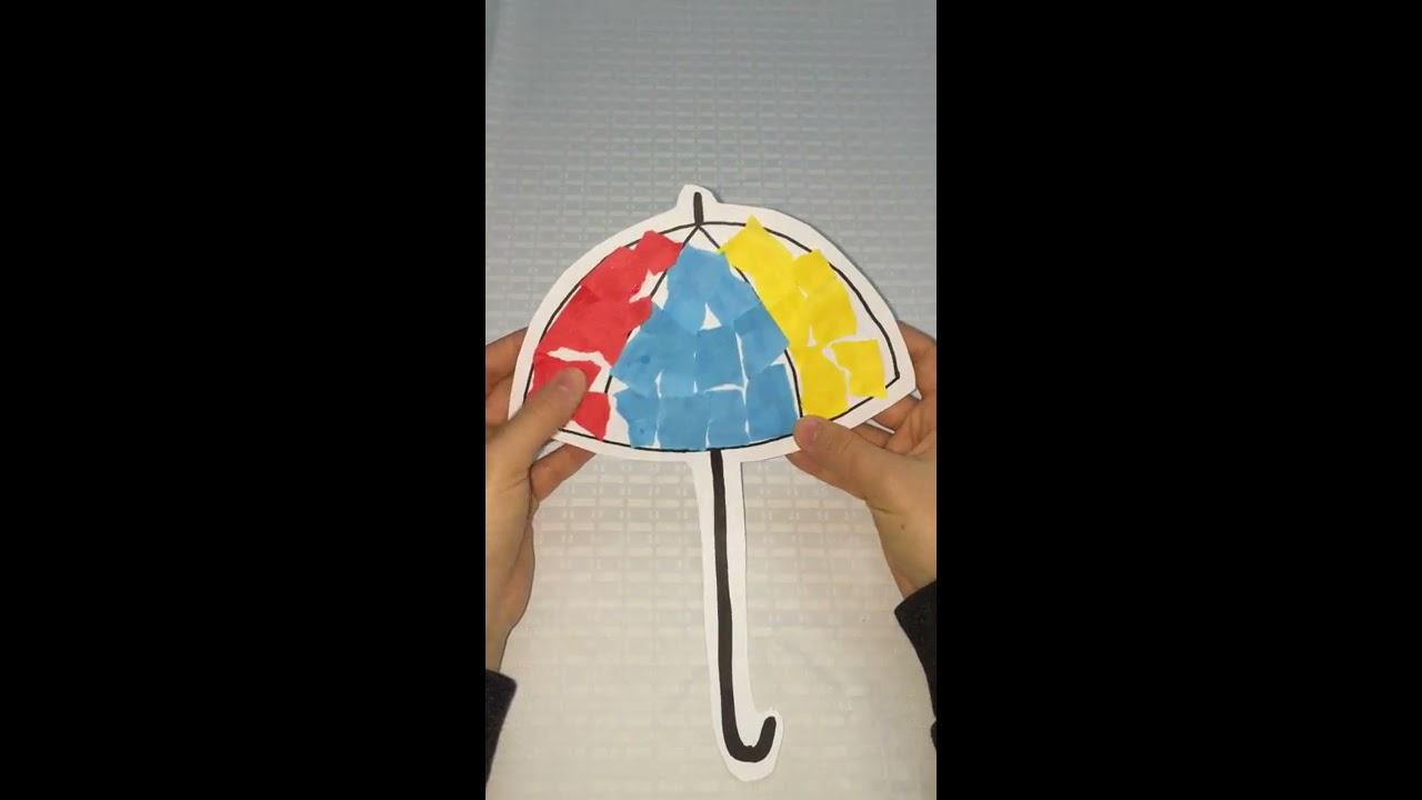 Yırtma Yapıştırma Yöntemiyle şemsiyemizi Nasıl Süsledik Youtube
