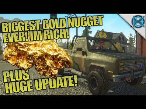 BIGGEST GOLD NUGGET! HUGE UPDATE & I'M RICH! | Gold Rush: The Game | Let's Play Gameplay | S01E02