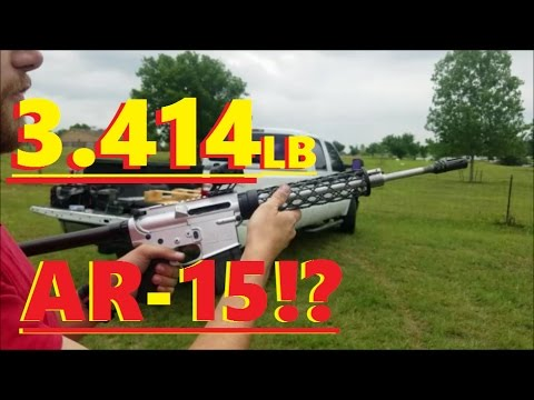 3 414lb Lightest AR-15 in the world shooting video