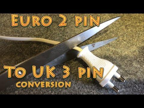 How To Convert A European Plug To A UK Plug | Two Pin Plug To Three Pin Plug