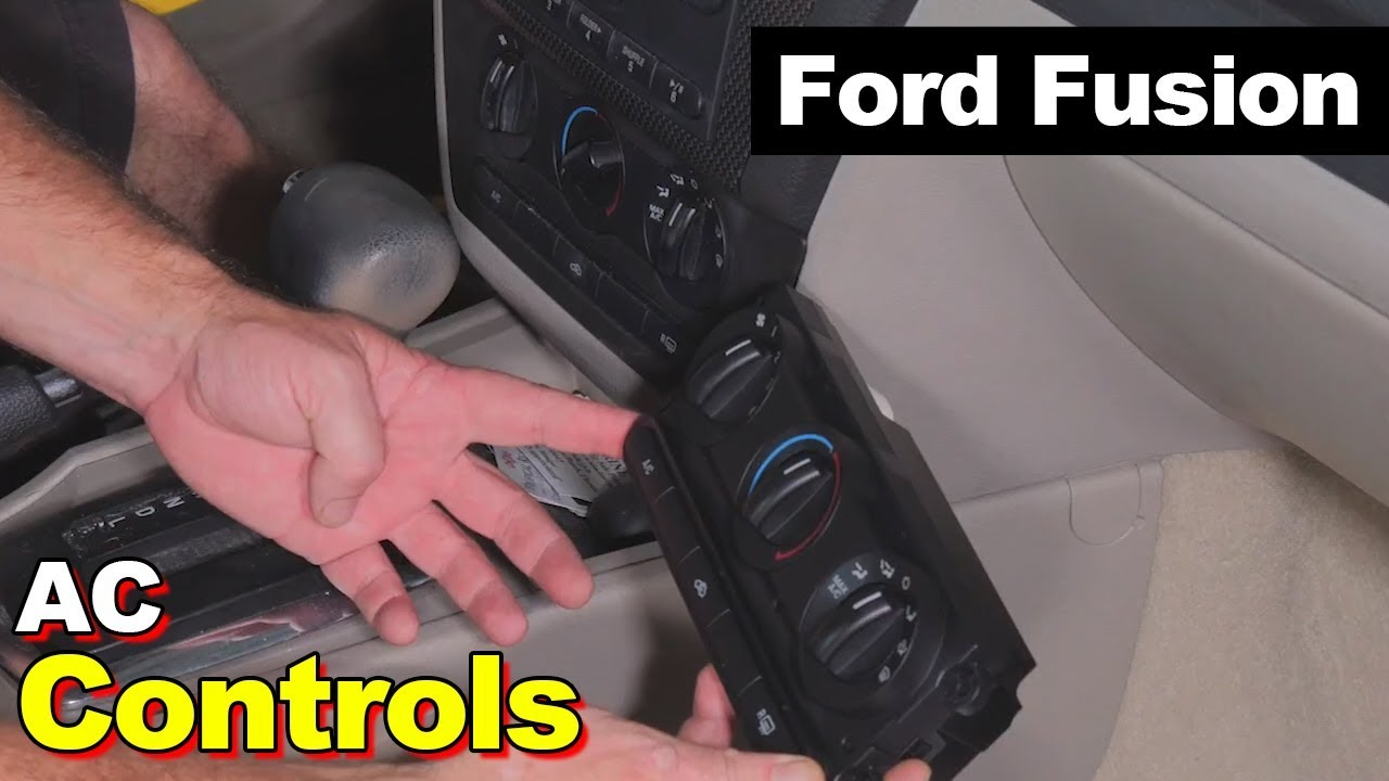 Ford Fusion Or Milan Hvac Ac Air Conditioner Heat Heater Control 2007 Cooling System Head Switch How To Replace