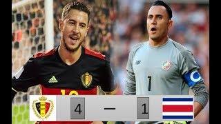 Amistoso Internacional Bélgica vs Costa Rica 4-1 Resumen y goles 11/06/2018