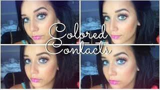 My Colored Contacts   4 Colors On Brown Eyes   Desio Eyes