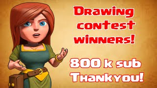 Clash Of Clans  Drawing contest winners 800k THANKYOU!