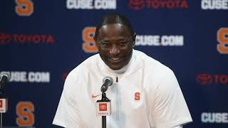 Dino Babers' postgame news conference after Syracuse football vs. Louisville (2018)