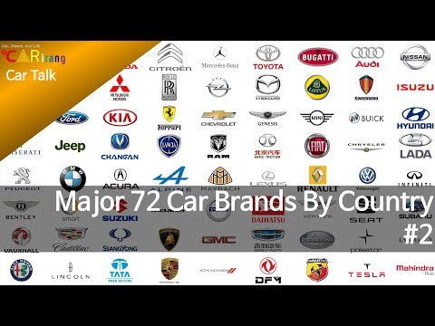 American / Asian Car Brands By Country 2