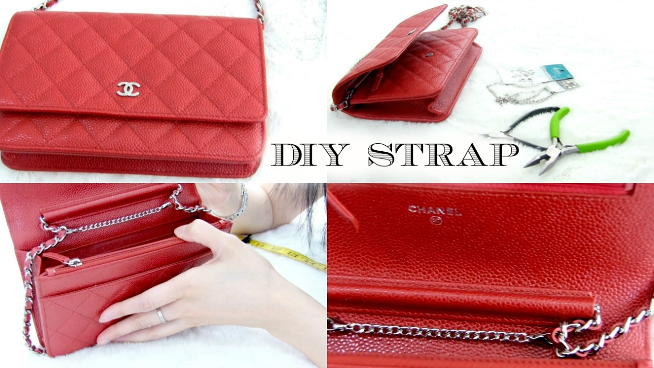 ce9f0bfcd40036 How to shorten the straps on your CHANEL WOC - YouTube