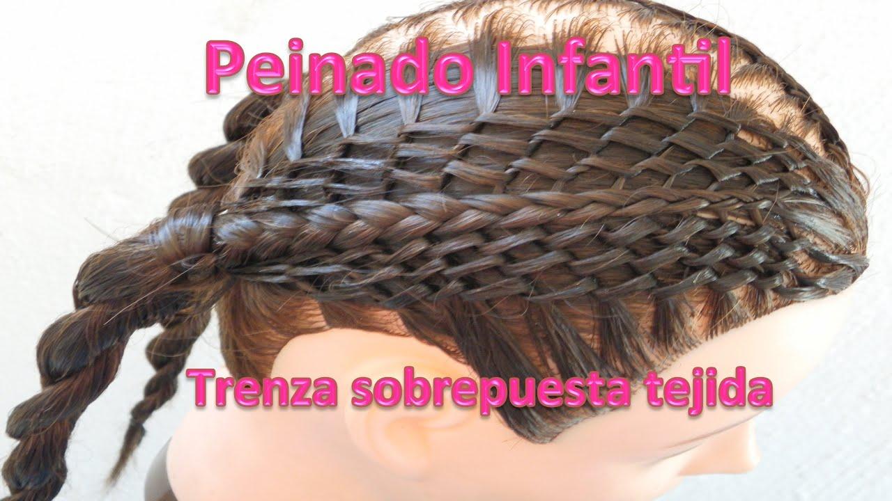 peinados para nias trenza sobre puestas tejidas tejido zigzag trenzas paso a paso youtube