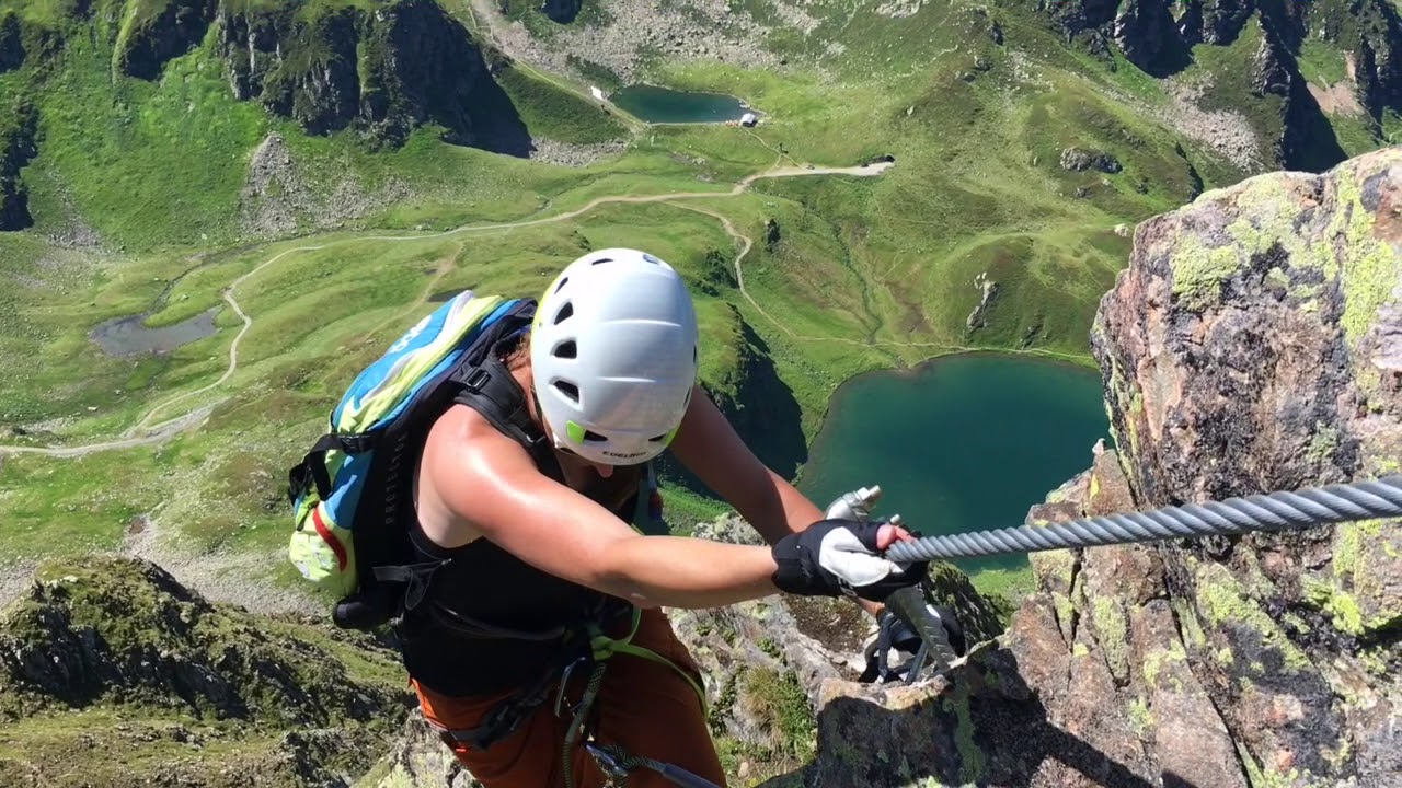 Klettersteig Rating : Klettersteig hochjoch am 29. juli 2018 montafon youtube