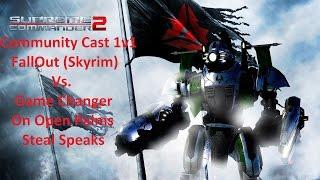 Supreme Commander 2 Community Cast 1v1 FallOut (Skyrim) Vs. Game Changer Epic Gameplay