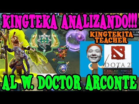 KINGTEKA ANALIZANDO AL WITCH DOCTOR ARCONTE I DOTA 2