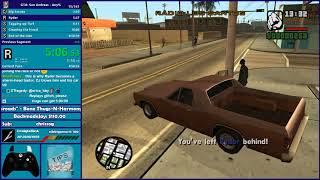 GTA San Andreas FULL Any% Speedrun - Hugo_One Twitch Stream - 11/22/2017