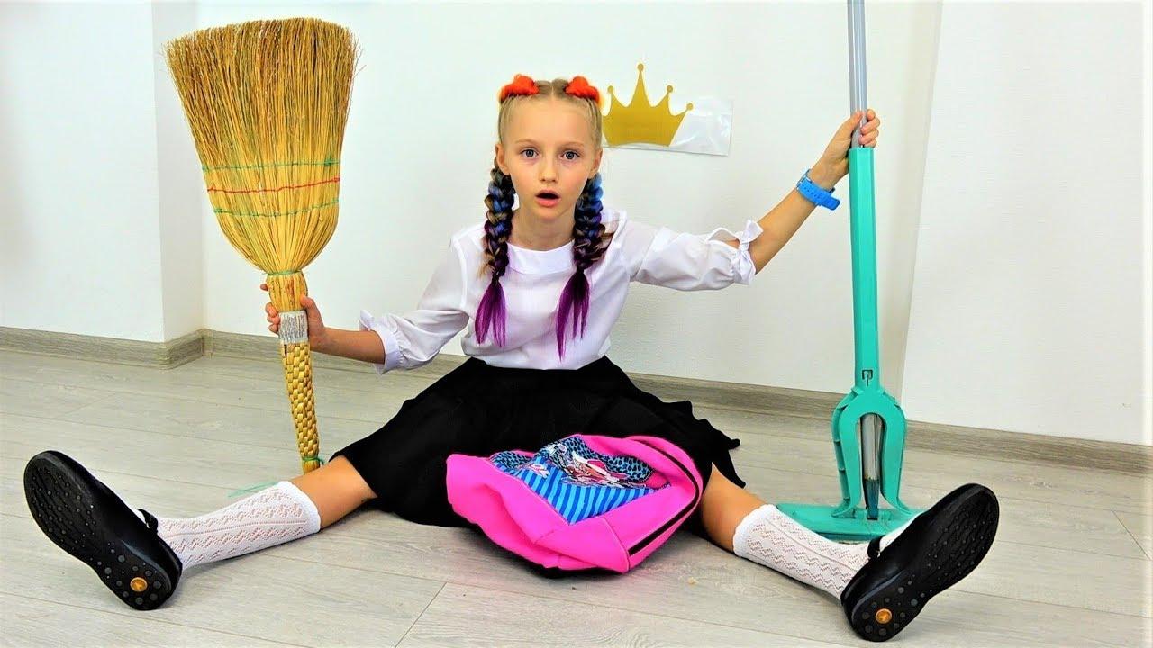 Полина собирается в школу