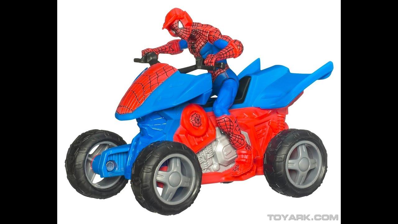 Spiderman Toys For Kids : Spiderman quad bike toys for kids youtube