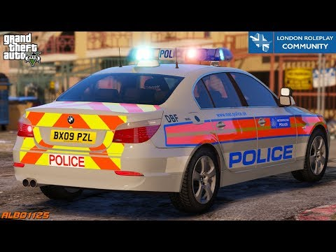 GTA5 Roleplay Armed Response - BMW E60 Pursuit & Lost MC Stop - London Roleplay Community 26 #UKGTA