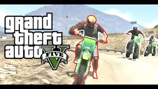 GTA 5 - Funny Online Motocross Dirt Bikes race, Grand Theft Auto V.