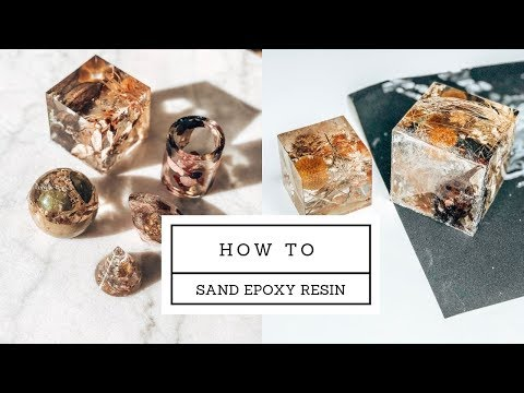 How to sand RESIN