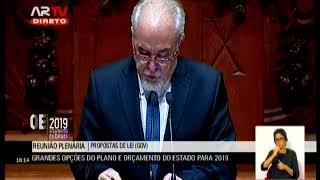 30-10-2018 - Debate na Generalidade | Orçamento do Estado para 2019 | Vieira da Silva