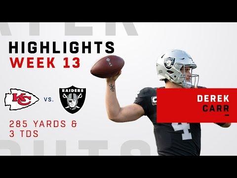 Derek Carr Highlights vs. Chiefs