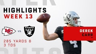 Derek Carr Highlights vs. Chiefs