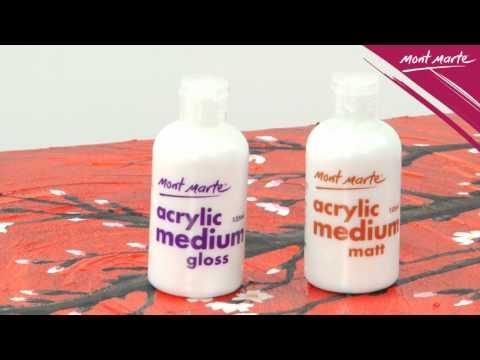 demo acrylic medium gloss matt mamd0001 2 youtube