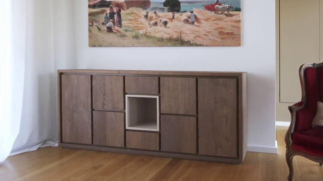 Credenza Moderna In Legno : Credenza moderna in legno anna rosa youtube