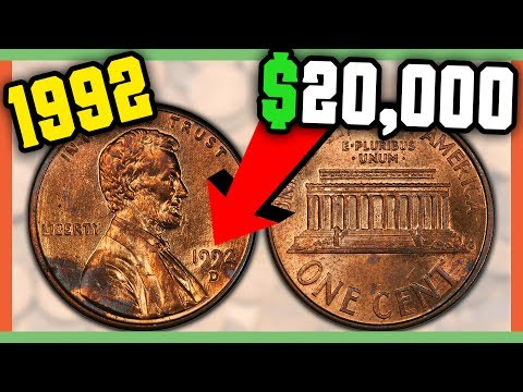 RARE PENNIES WORTH MONEY -  $20,000 PENNY ERROR 1992 CLOSE AM!!