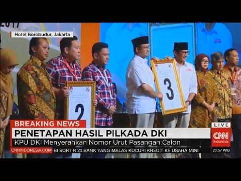 Ahok - Djarot Walk Out, Penetapan Hasil Real Count KPU & Penentuan Nomor Urut Cagub DKI Jakarta