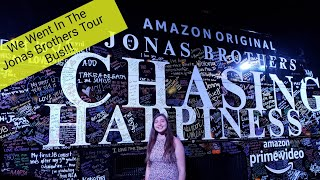 Jonas Brothers- Chasing Happiness Premiere Vlog- WE GOT ON THEIR TOUR BUS!!!