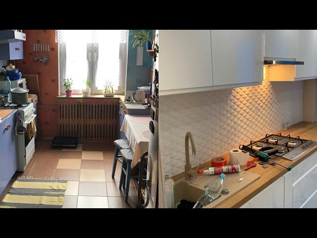 Metamorfoza- remont kuchni w bloku. # Metamorphosis - kitchen renovation in the block.