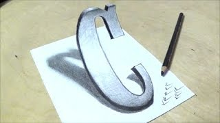 ONLY ONE PENCIL - How to Draw Letter C in Western Style - 3D Trick Art