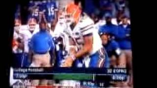 Tim Tebow gets NAILED!!!