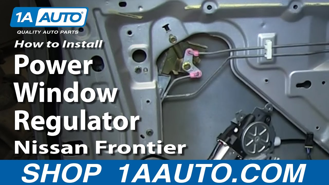 2006 nissan xterra parts diagram wiring for a 3 way switch how to install replace front power window regulator 1998-04 frontier and - youtube