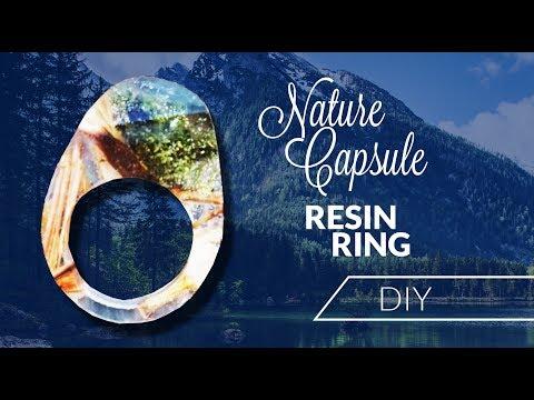 Resin ring DIY NATURE CAPSULE