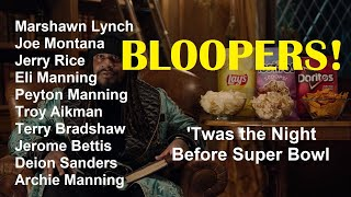 Bloopers Reel Twas the Night Before Super Bowl ad w Marshawn Lynch and a Cast of NFL Legends