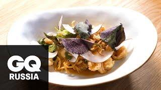 Рецепт салата с креветками и помело