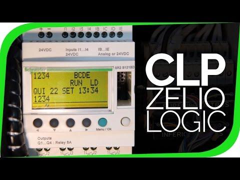 """Rele Programável Zelio Logic - CLP de """"pequeno"""" porte"""